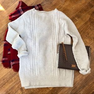 GAP | Oatmeal Cable-Knit Fisherman Sweater
